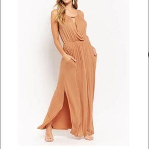 Love In {forever21} Camel Key Hole Maxi